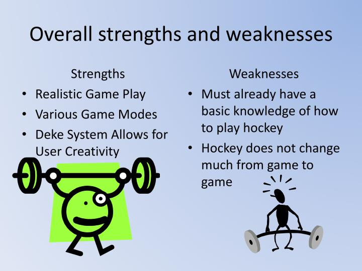 Overall strengths and weaknesses