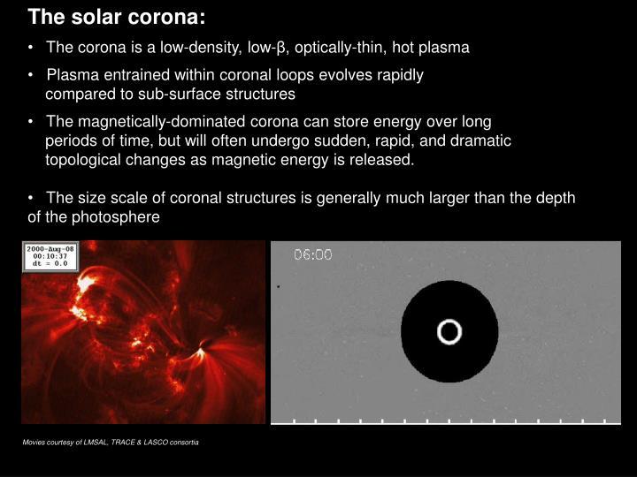 The solar corona: