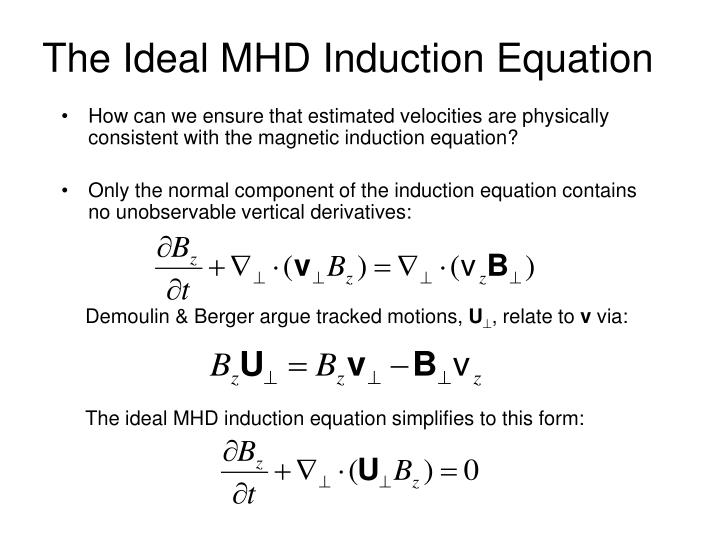 The Ideal MHD Induction Equation