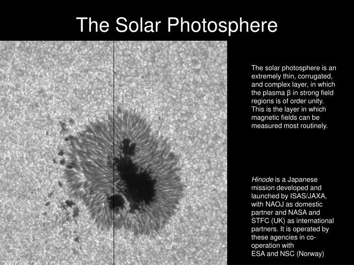 The Solar Photosphere