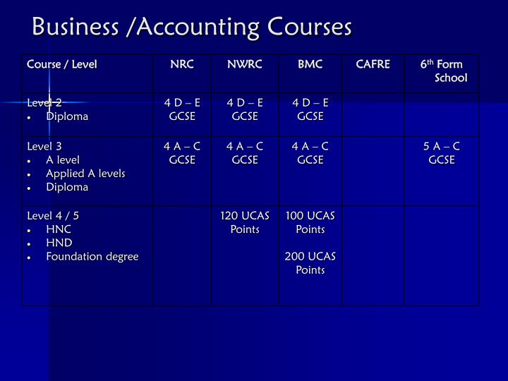 Business /Accounting Courses
