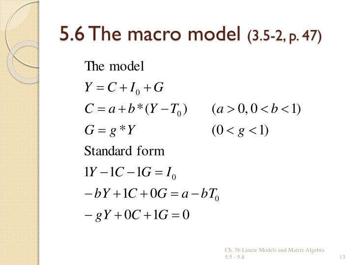 Ppt Ch 5b Linear Models Amp Matrix Algebra Powerpoint