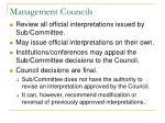 management councils