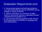 graduation requirments cont