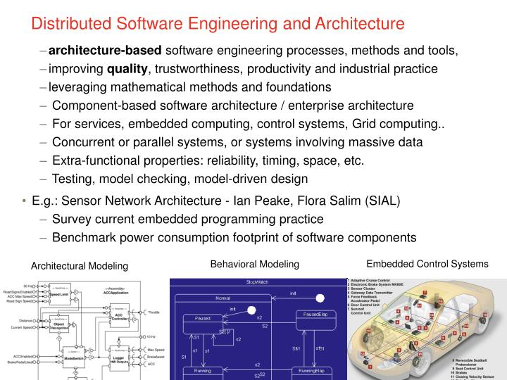 Distributed Software Engineering and Architecture
