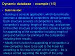dynamic database example 1 5
