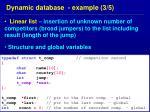 dynamic database example 3 5