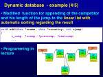 dynamic database example 4 5
