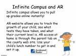infinite campus and ar