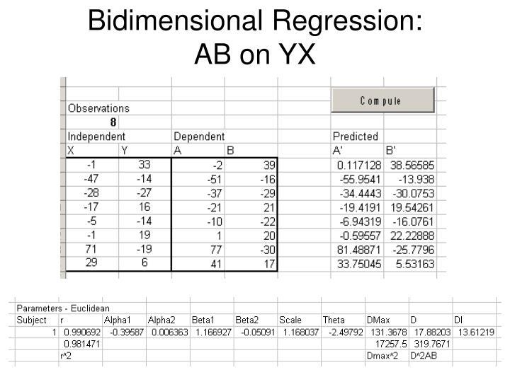 Bidimensional Regression: