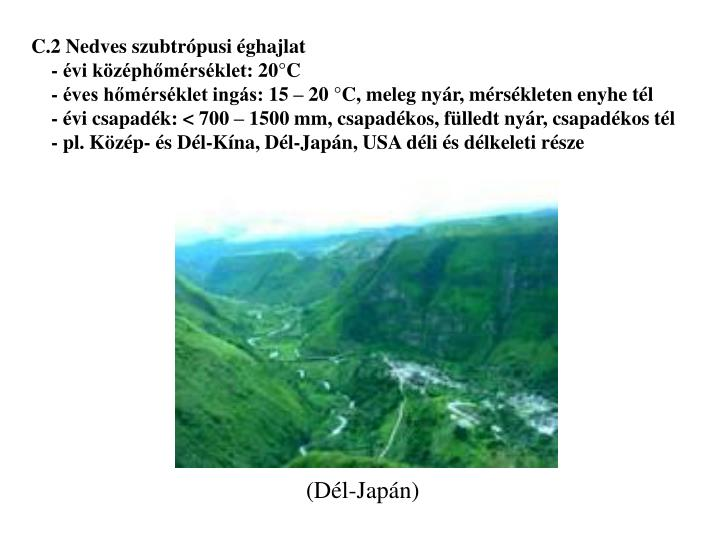 C.2 Nedves szubtrópusi éghajlat
