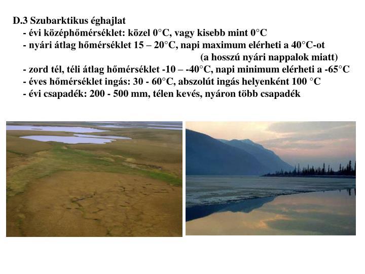 D.3 Szubarktikus éghajlat