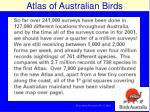 australian bird atlas