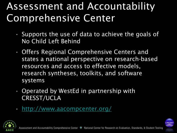 Assessment and Accountability Comprehensive Center