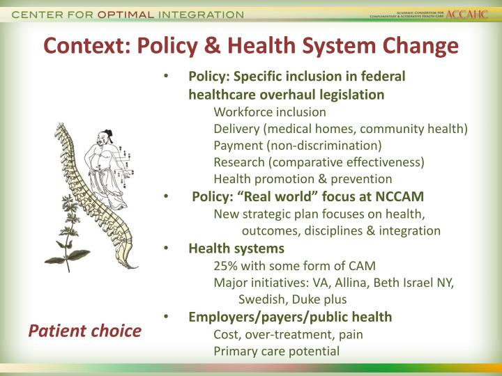 Context: Policy & Health System Change