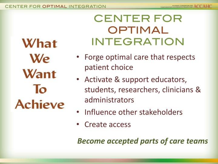 Forge optimal care that respects patient choice