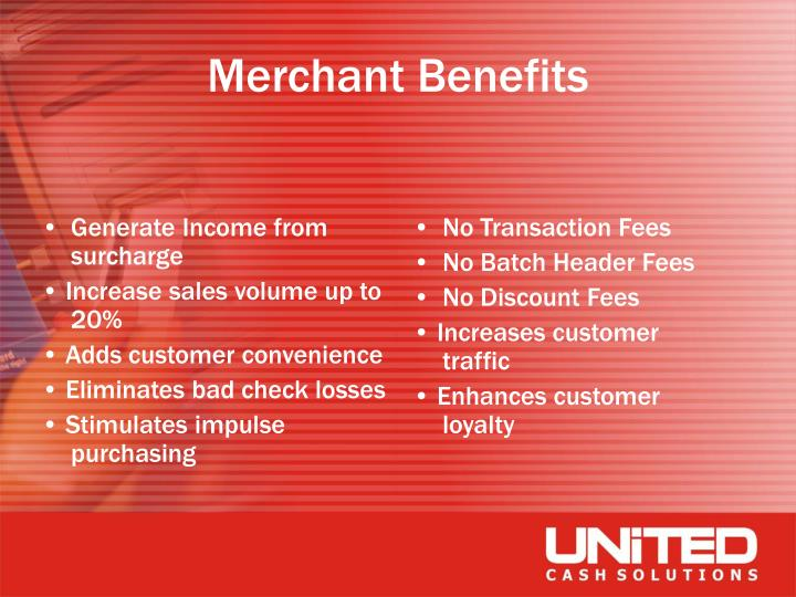 Generate Income from surcharge