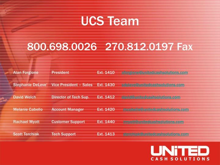 UCS Team