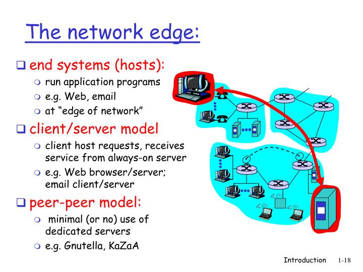 end systems (hosts):