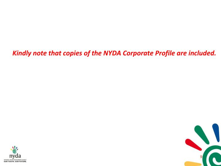 Ppt presentation 2 nyda organisational profile and footprint 29 kindly note that copies of the nyda corporate profile are included cheaphphosting Image collections