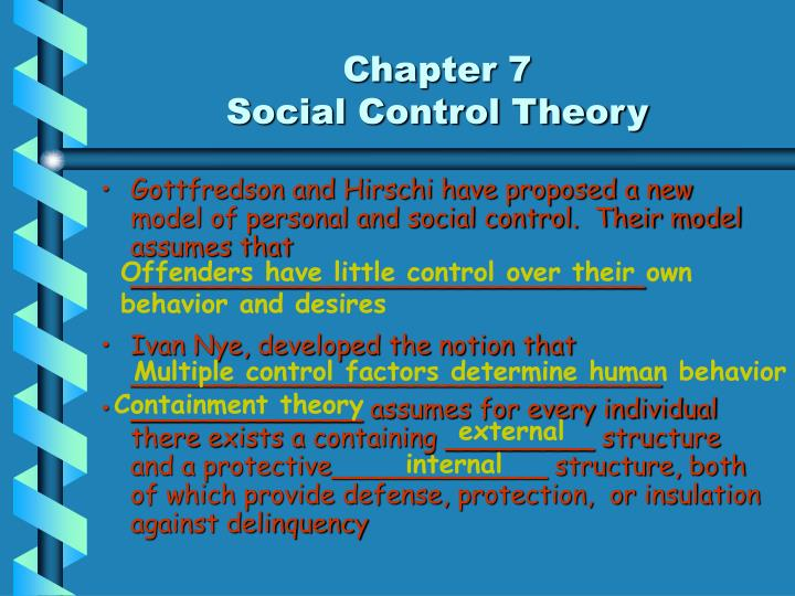 hirschi social control theory essay Need essay sample on hirschi's social control theory we will write a cheap essay sample on hirschi's social control theory specifically for you for only $1290/page.