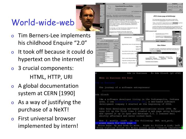 a introduction of world wide web in 1990 The invention of the world wide web 850 table of contant introduction 3 web 20 applications 3 presentation tools 4 video because back in the 1990.