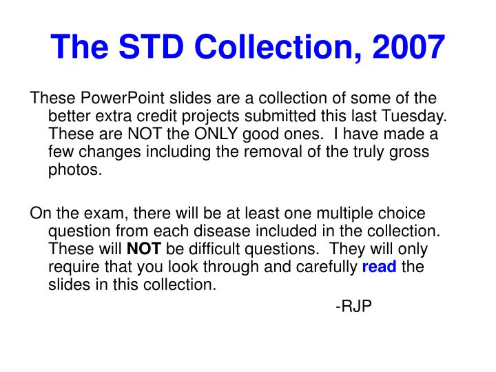 the std collection 2007 n.
