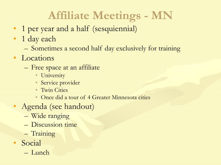 Affiliate Meetings - MN