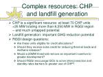 complex resources chp and landfill generation