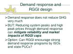 demand response and rggi design