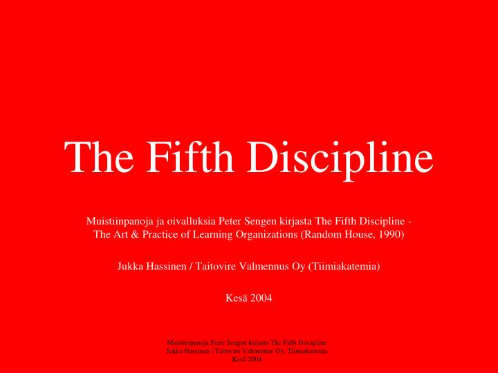 the fifth discipline n.