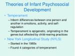 theories of infant psychosocial development6