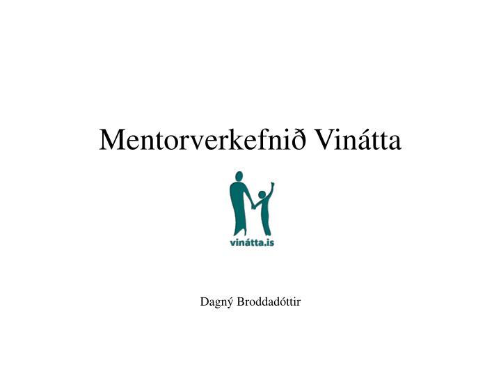 Mentorverkefnið Vinátta