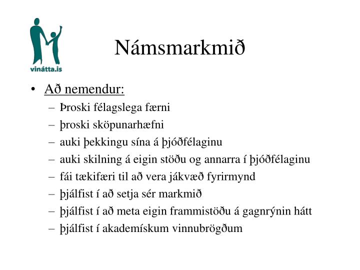 Námsmarkmið