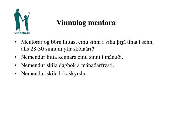 Vinnulag mentora