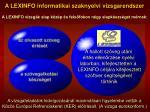 a lexinfo informatikai szaknyelvi vizsgarendszer