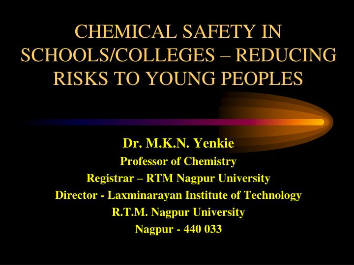 chemical safety in schools colleges reducing risks to young peoples n.