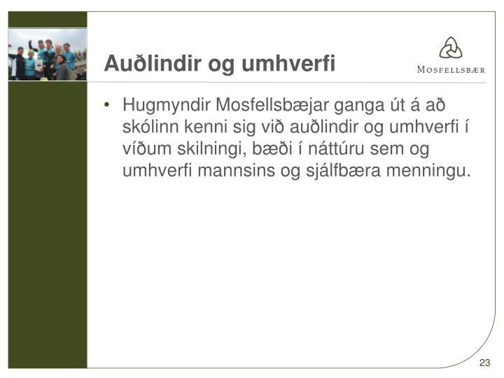Auðlindir og umhverfi