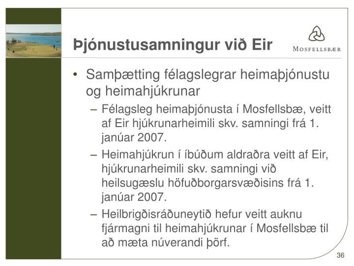 Þjónustusamningur við Eir