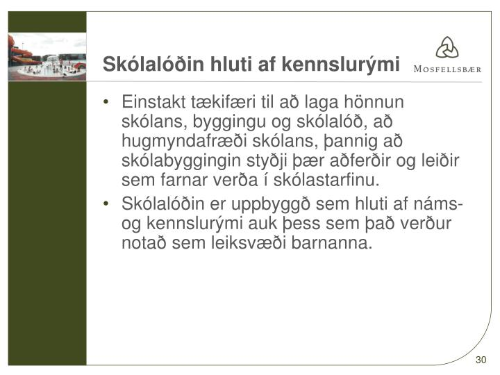 Skólalóðin hluti af kennslurými