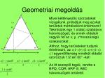 geometriai megold s