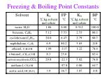 freezing boiling point constants