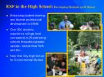 esf in the high school developing students and citizens