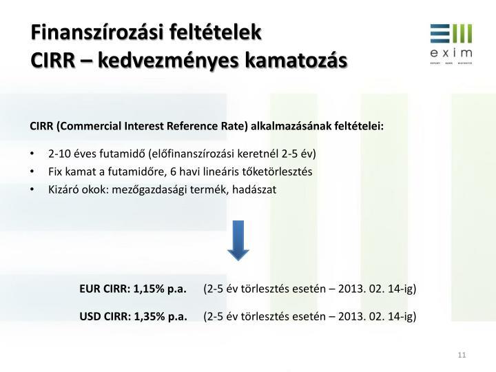 Finanszírozási feltételek