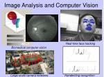 image analysis and computer vision