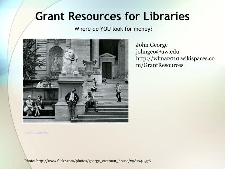 grant resources for libraries n.
