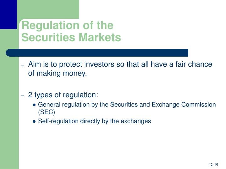 Regulation of the