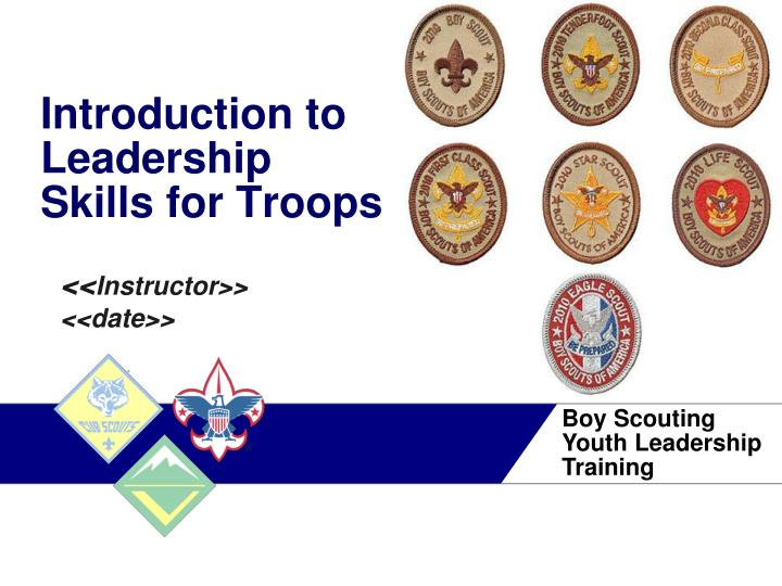 introduction to leadership skills for troops n.