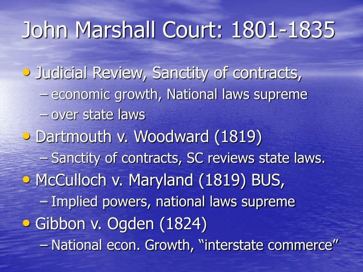 John Marshall Court: 1801-1835