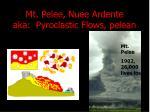mt pelee nuee ardente aka pyroclastic flows pelean